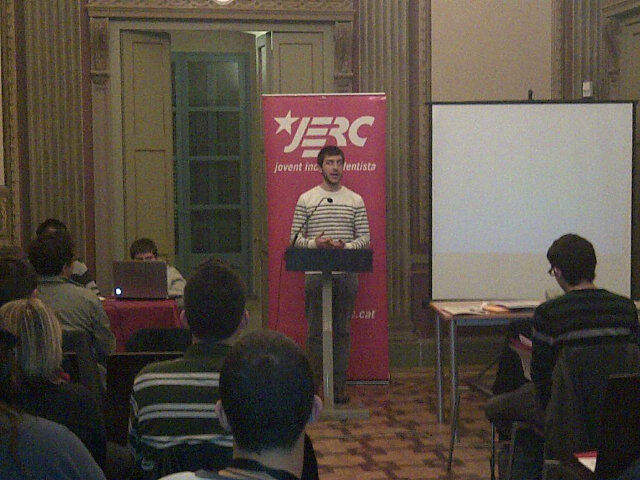 Arnau Mata, Portaveu electe, presenta el projecte de la candidatura abans de les eleccions