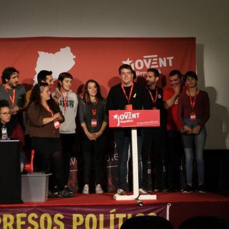 El nou equip de la permament nacional a punt de ser elegits, amb el portaveu Pau Morales al capdavant.