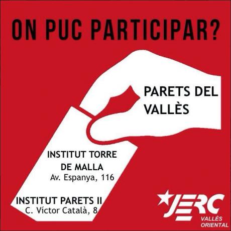 Punts de votació a Parets del Vallès