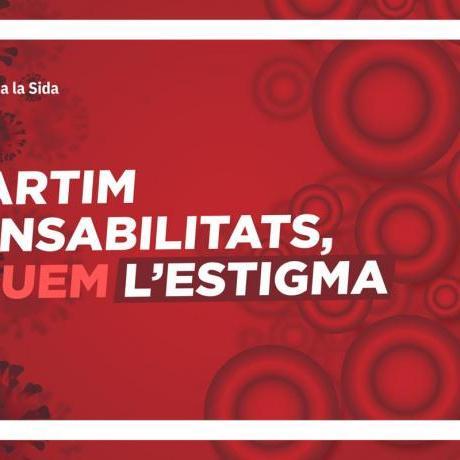 Imatge del Jovent Republicà pel dia mundial de la lluita contra la SIDA.