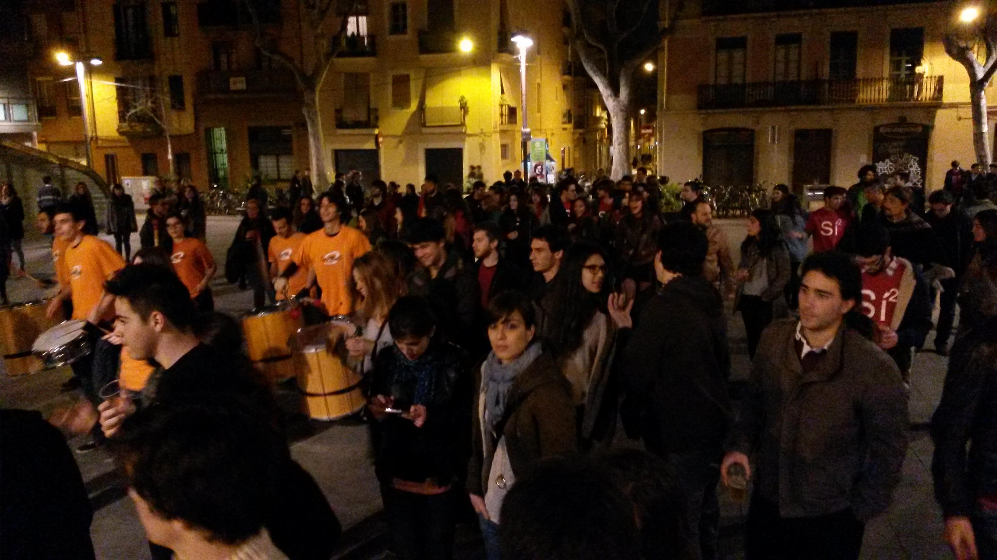Correbars de les JERC a la vila de Gràcia