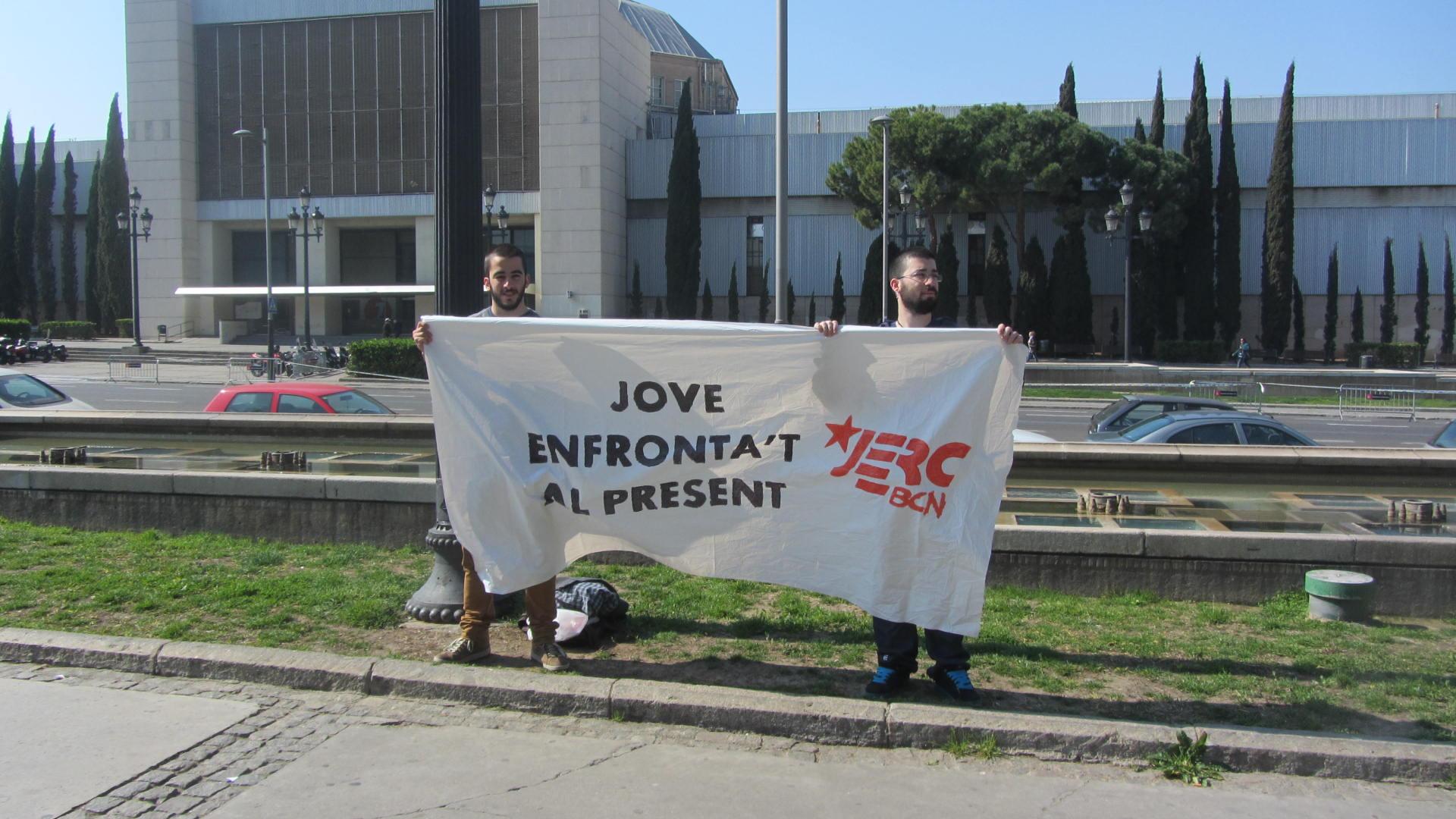 Acció de les JERC Barcelona