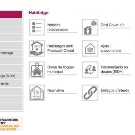web de la regidoria de dret a l'habitatge