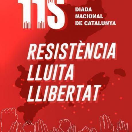 Cartell de les Joventuts d'Esquerra Republicana per l'Onze de setembre de 2018