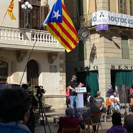 Concentració de suport a l'Adrián Sas el passat diumenge 15 de novembre a Vilafranca