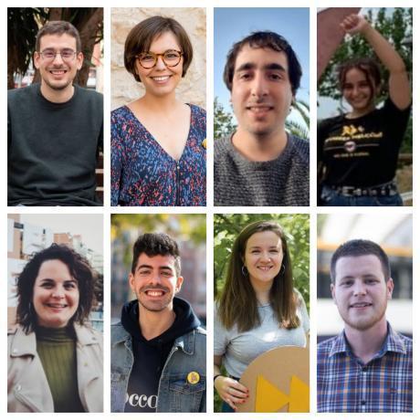 Oriol Casanellas, Rut Ribas, Marta Castellví, Adrià Guevara, Martí Càlix, Laia Sueiro, Núria Calvet i David Prat