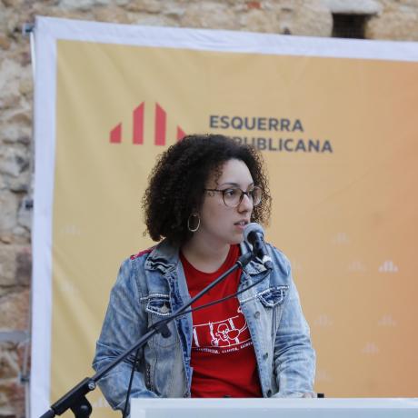 Anna Tresserras durant la campanya de les municipals del 2019
