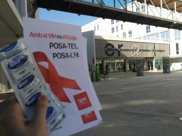 Fotografia de l'acció a la URV