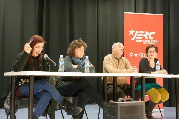 Ànnia Dilmé, Teresa Jordà, Joan Martí i Sílvia Casola a la presentació de les JERC SCF