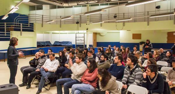 Teresa Jordà a la presentació JERC Santa Coloma de Farners
