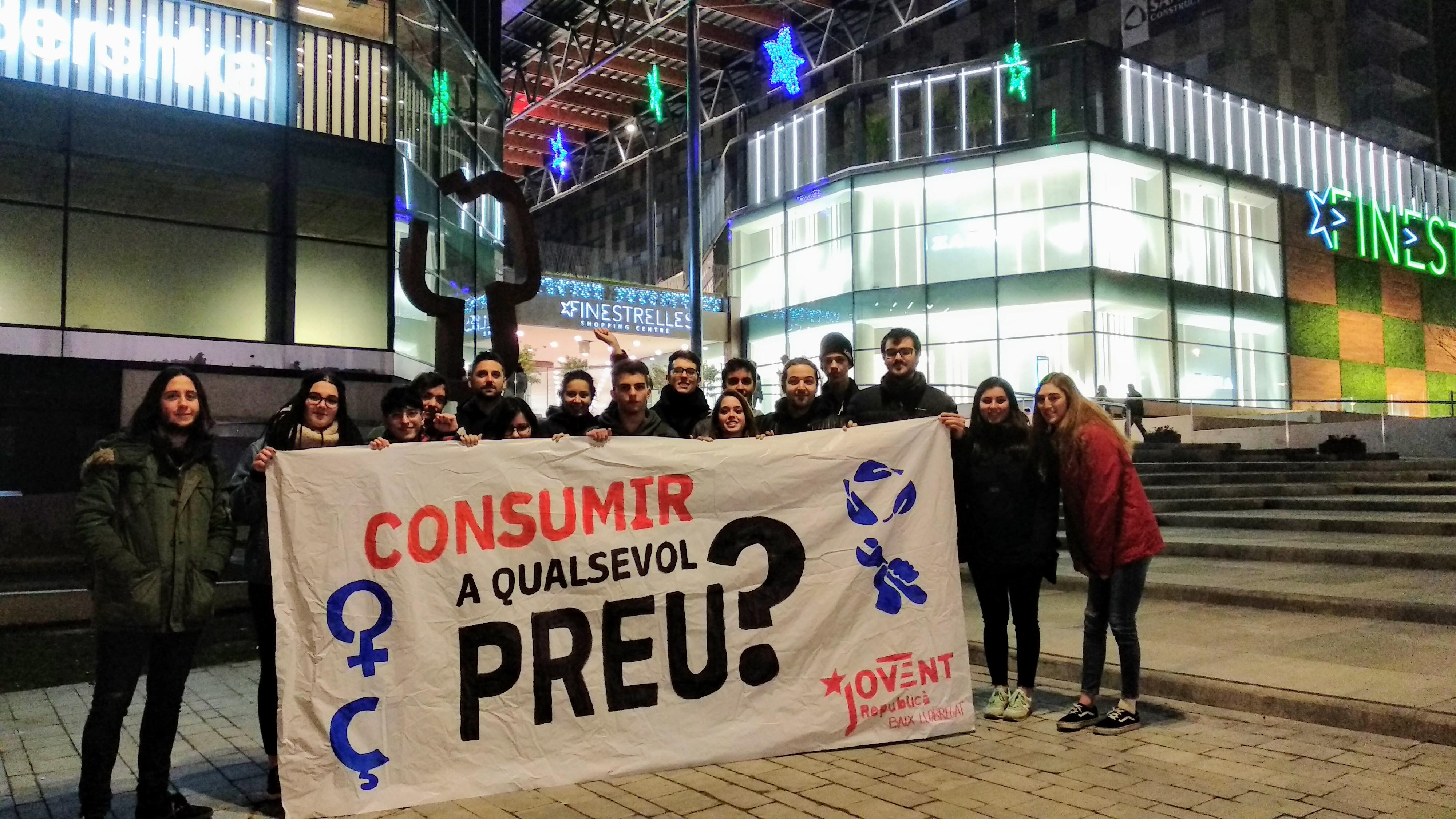 El Jovent Republicà del Baix Llobregat, a favor d'un consum responsable, just i feminista