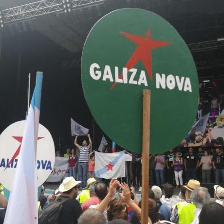 Una delegació del Jovent Republicà participa dels actes del dia de la pàtria gallega