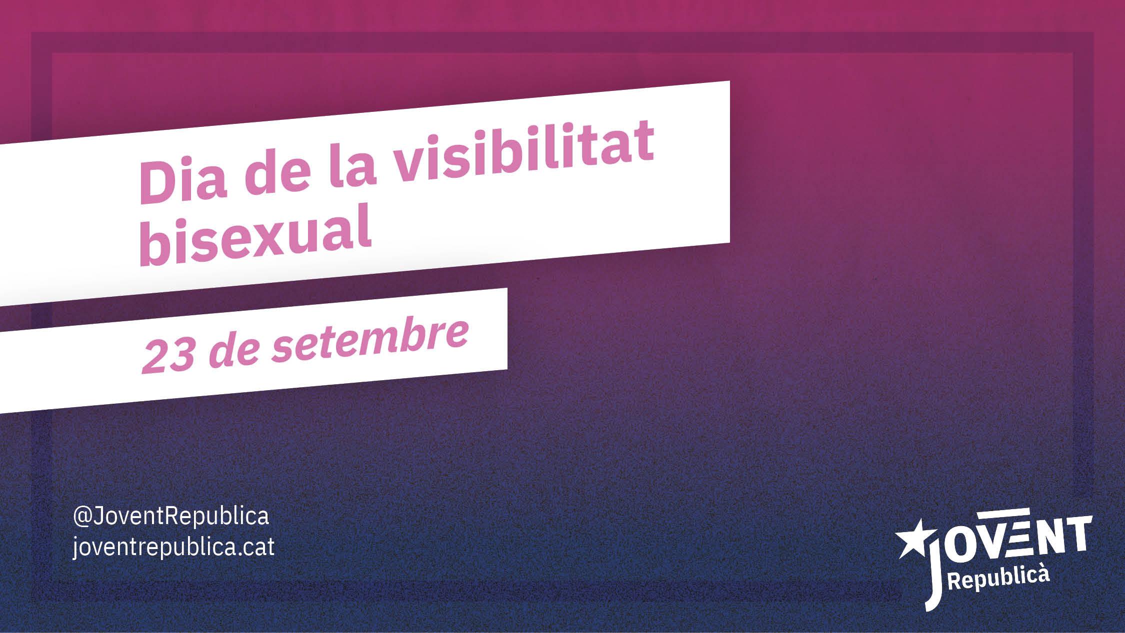 Cal combatre la invisibilització del col·lectiu bisexual!