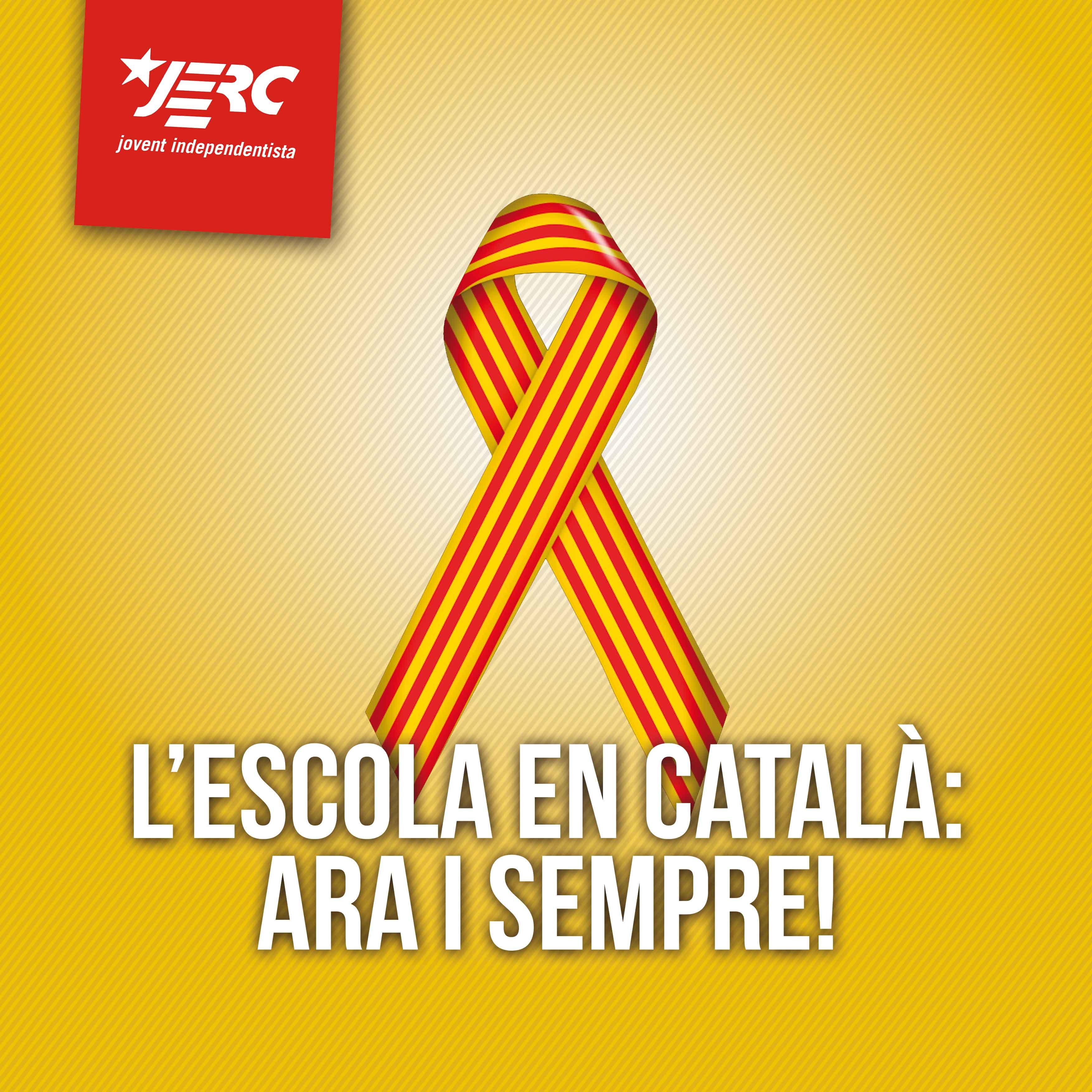 L'escola en català ara i sempre!