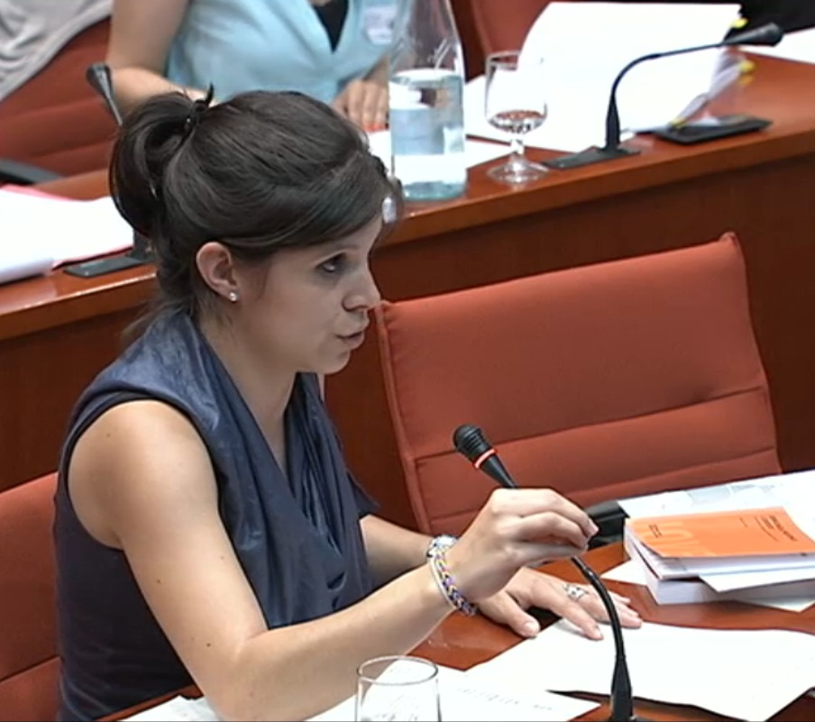 Marta Vilalta a la comissió de polítiques de joventut