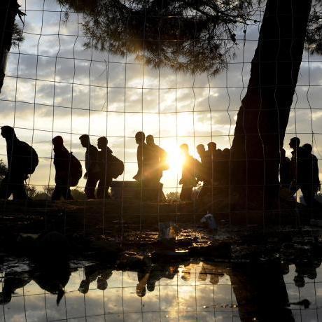 Refugiats sirians a la frontera grega amb Macedònia (Reuters)