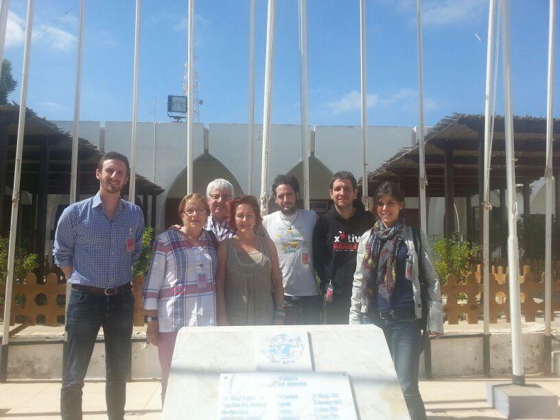 La delegació catalana al Sahara