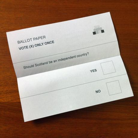 Papereta votació referèndum Escòcia