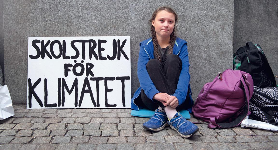 La jove Greta Thunberg va iniciar el moviment global per denunciar l'emergència climàtica
