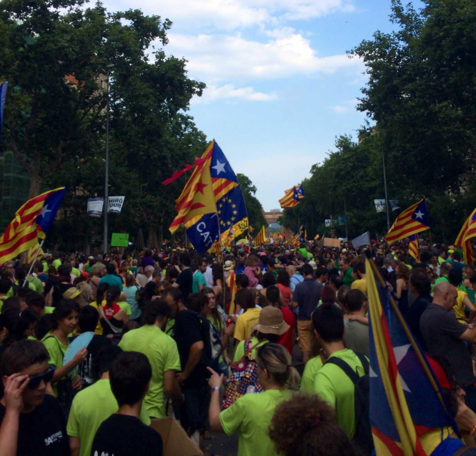 Footgrafia de la manifestació de Somescola per l'escola en català