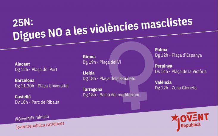 Sortim al carrer per denunciar les diferents violències que patim les dones.