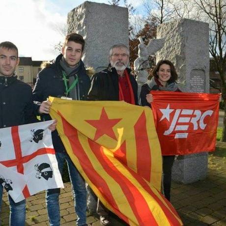 Les JERC amb el Sinn Féin i Jerry Adams