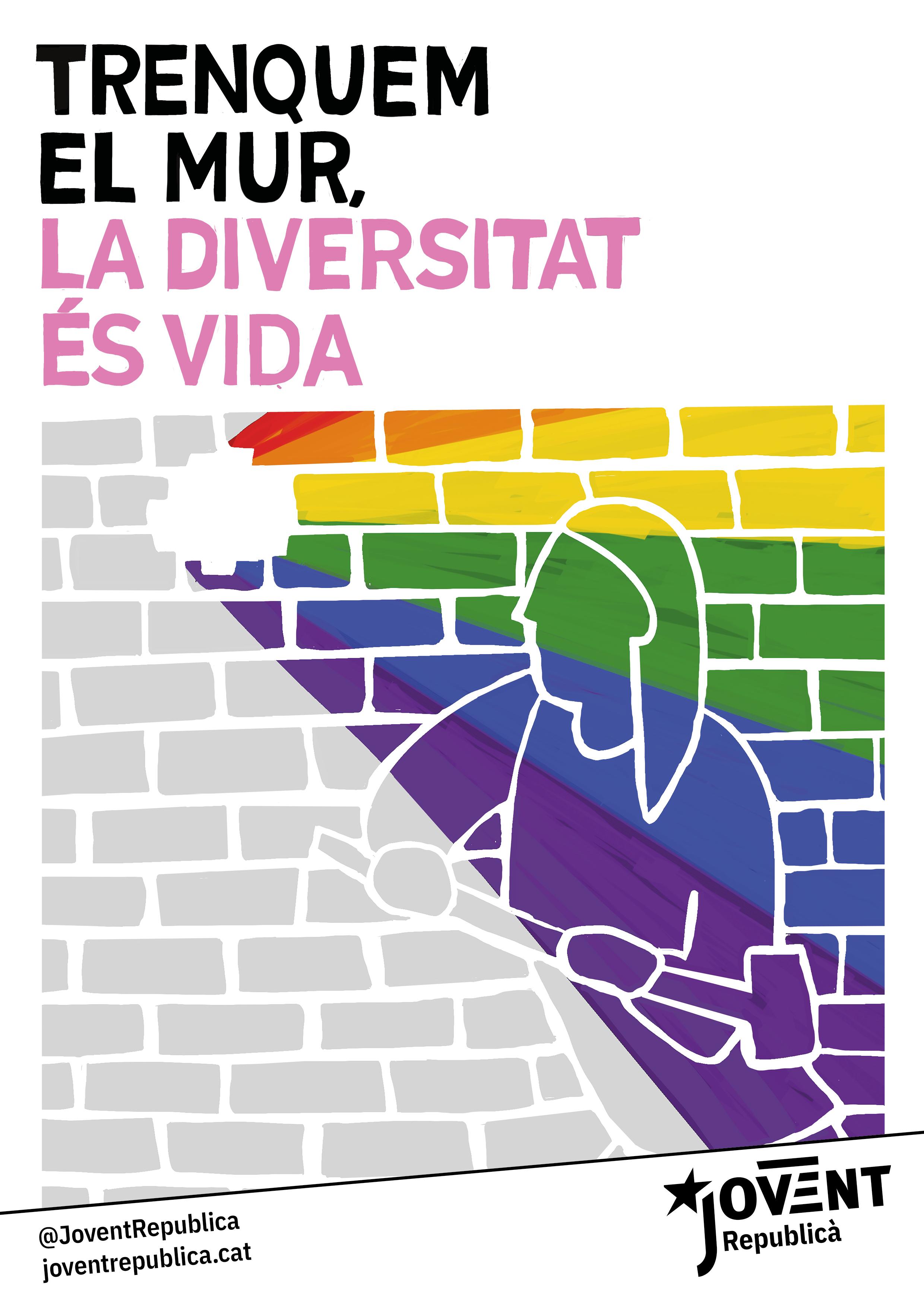 El 17 de maig i cada dia, trenquem el mur, la diversitat és vida!