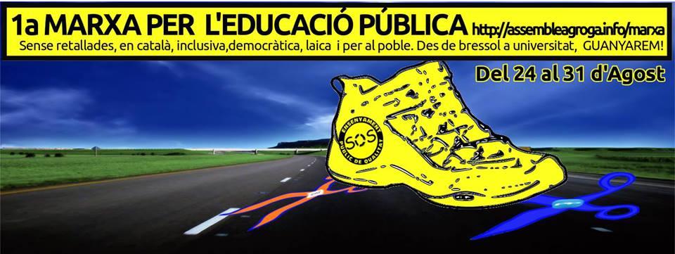 Cartell de la 1a marxa per l'educació pública