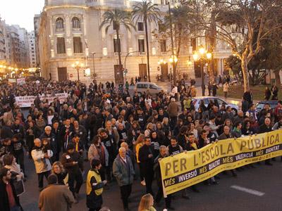Manifestació al País Valencià per l'escola pública