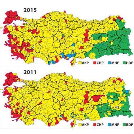 Mapa del resultat electoral