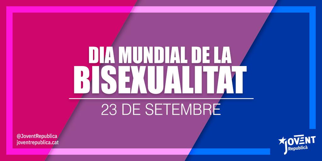 Defensar la bisexualitat és defensar, representar i promoure la diversitat de les relacions humanes