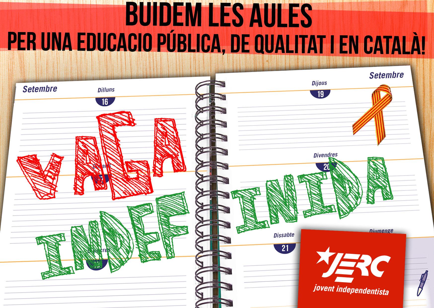 Imatge de suport a la vaga de docents de les Illes Balears i Pitiüses contra la llei TIL
