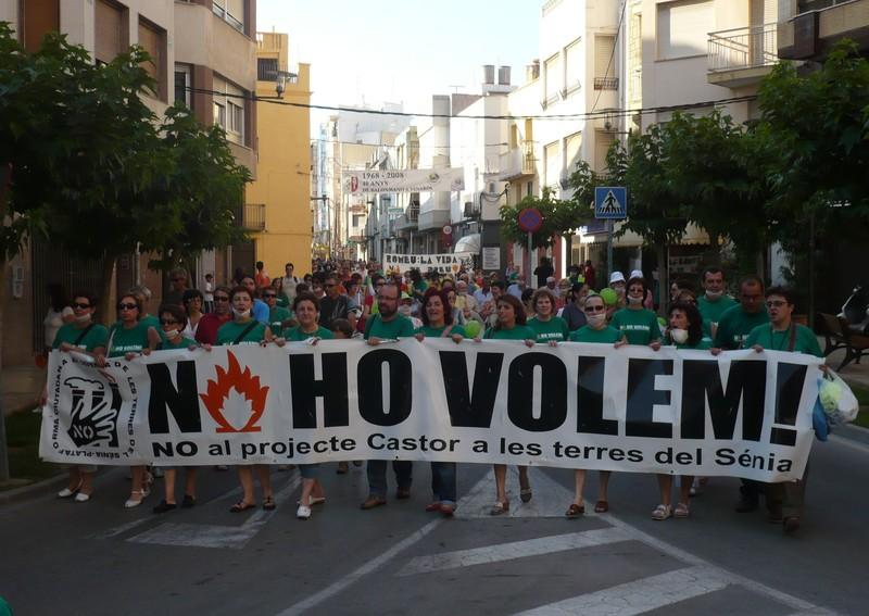 Manifestació contra el projecte Castor